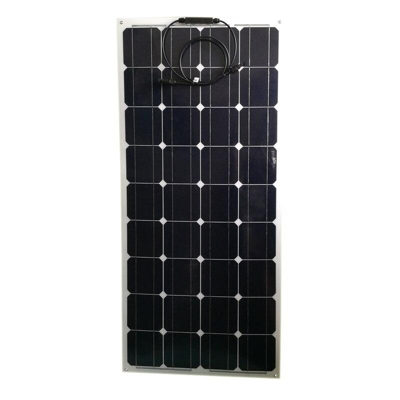 Mono Panel Solar Flexible 100w 12v 3 uds Placa Solar 300w cargador de batería Solar Rv Motorhoms caravana coche Camping impermeable LED