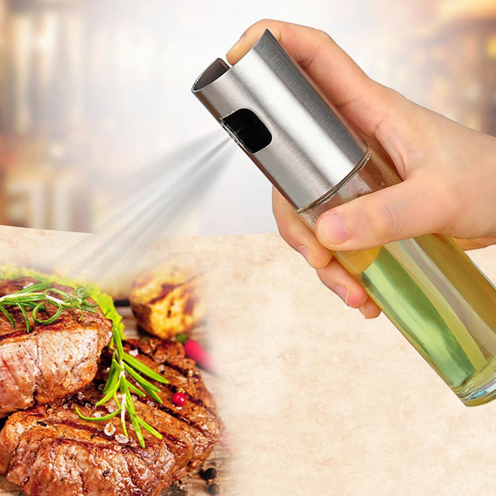 Olive Oil Vinegar Pump Spray air fryer Bottle Refillable Cooking Salad BBQ Kitchen Tool