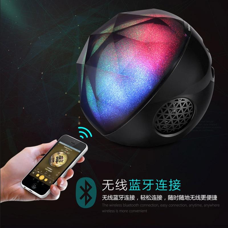 Inteligente Bluetooth speaker portátil, multi-função de mudança de cor da lâmpada bola de controle remoto, caixa de som, Bluetooth speaker