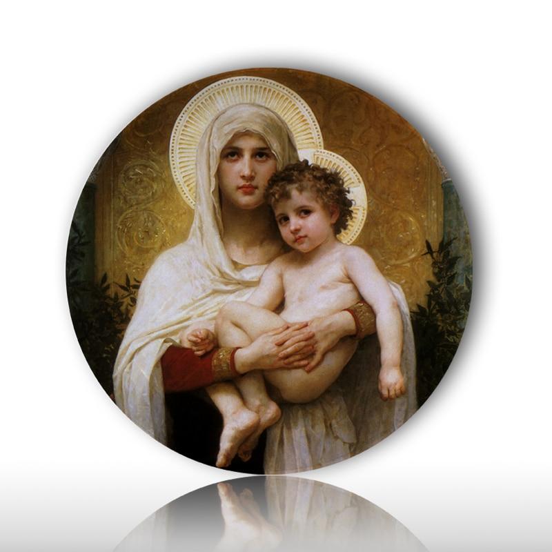 Klassische frommen Jesus design malerei keramik wand hängen handwerk platten kirche Christian glauben Gebet gericht believer geschenk