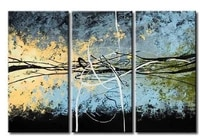 hand painted wall art blue sky beginning decoration abstract landscape oil painting on canvas