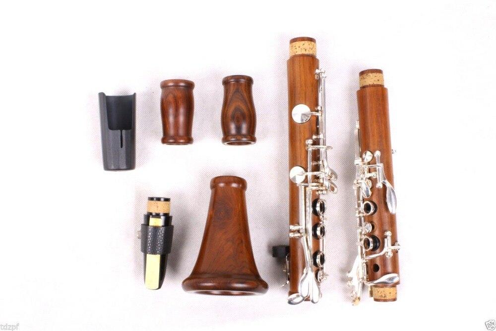 Nuevo clarinete profesional, cuerpo de madera de palisandro, llave niquelada Bb Key 17 Key