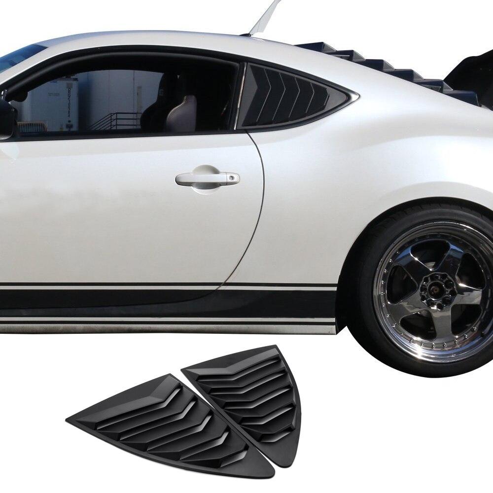 Persiana de ventana de cuarto trasero de Estilo negro ABS apto para 2013-18 Scion FRS Subaru BRZ