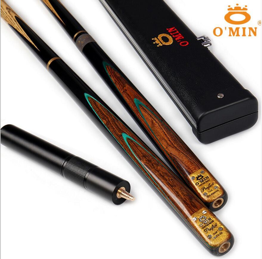 OMin parfait modèle 3/4 queue de billard 9.8mm embouts avec étui de billard (A/B/C) ensemble Kit de billard professionnel bâton chine 2019