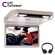 Lecteur DVD montage sur toit de voiture   13.3 pouces, rabattable vers le bas, vidéo HD 1080P, USB/SD/HDMI/MP5/IR, transmetteur FM, écran numérique TFT large