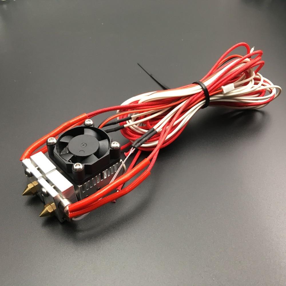 1 مجموعة 2 في 1 من V6 ، نظام بثق متعدد البثق j-head HotEnd ، مع برغي M3 على الثرمستور NTC 3950