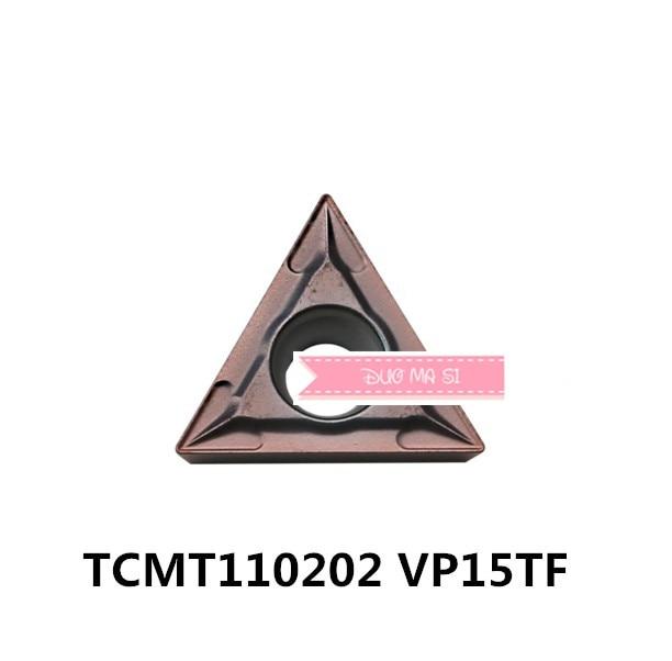 TCMT110202 VP15TF/TCMT110204 VP15TF/TCMT110208 VP15TF, pastilhas de metal duro para ferramenta de tornear titular bar chato