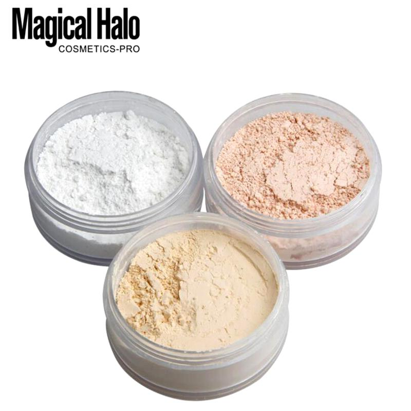 3 Colors Makeup Loose Powder Transparent Finishing Powder Waterproof Cosmetic Puff For Face Finish S