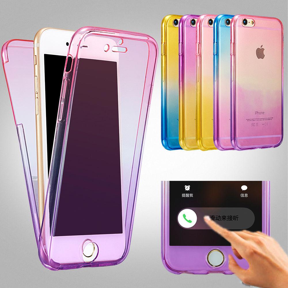 Чехлы для iPhone 7 6 s, защита радуги 360 ТПУ, силиконовая, гибкая, мягкая, полная защита корпуса, чехол для 6 7 Plus 5 5S 5SE