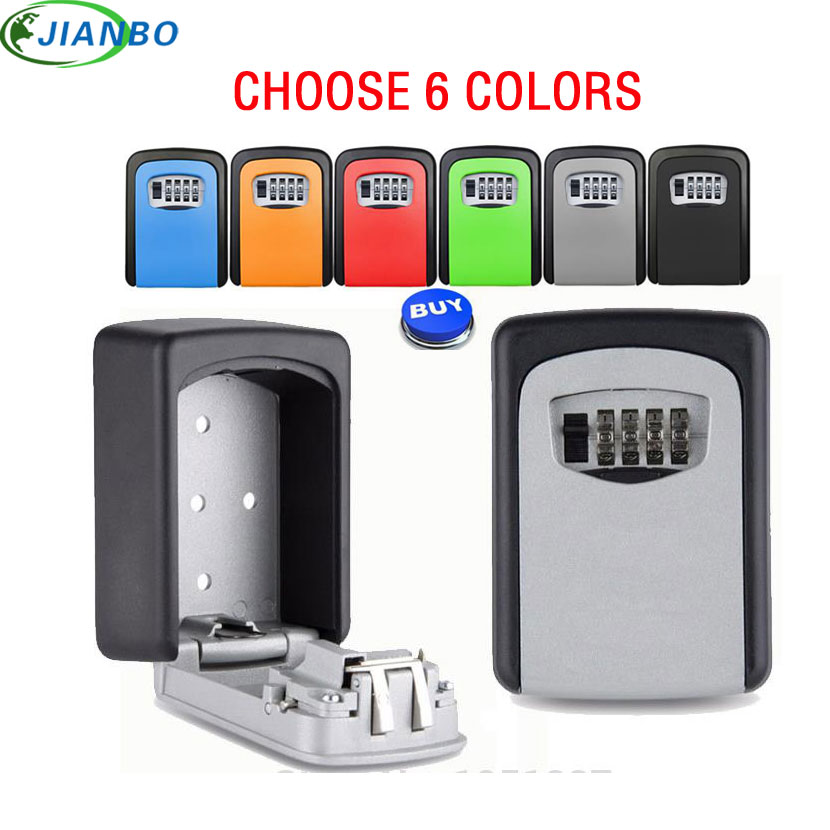 4-значный металлический открытый сейф для пистолета, коробка-органайзер для хранения ключей с паролем, коробка для замка безопасности, наст...