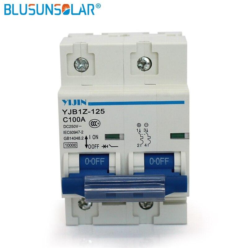 Atacade1pcs/lot interruptor de ar de alimentação 2 p 100a dc 440 v disjuntor YJBz1-125
