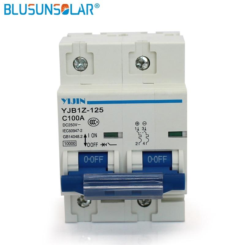wholesale1pcs/lot Air switch power 2P 100A DC 440V Circuit breaker YJBz1-125