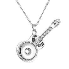 Nouveau mode beauté pendentif rétro modèle Snap collier ajustement bricolage 18MM boutons pression bijoux en gros femmes