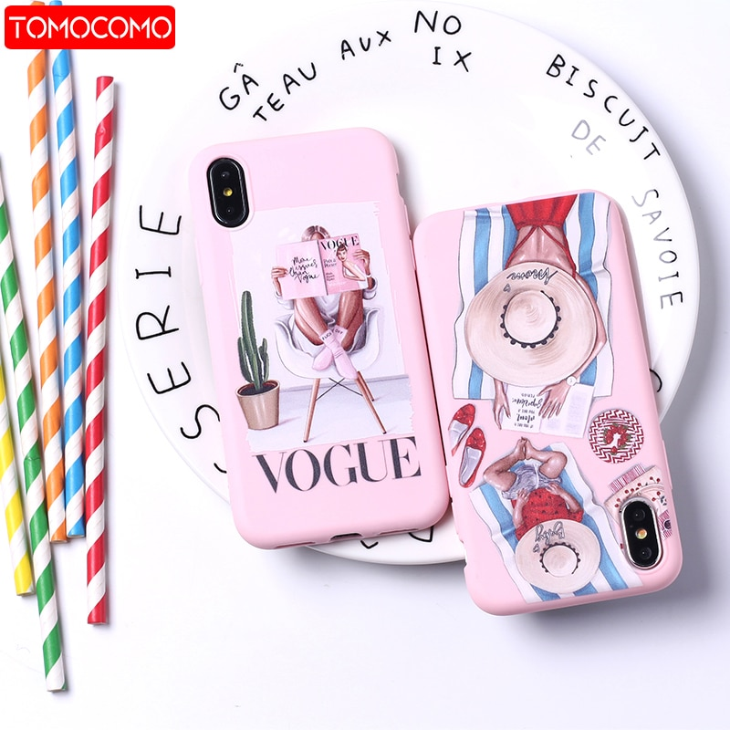 Fashion Queen Classy Paris Girl Summer Travel Mom Baby Soft Silicone Candy Case Coque For iPhone 12 11 8 8Plus X XS Max 7 7Plus