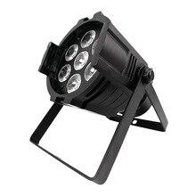 10 sztuk/partia SHEHDS LED Par może 6w1 7x18W RGBWA UV mycia światła potężny etap Led Par światło na imprezę Disco Party