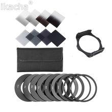 Nieuwe ND2 ND4 ND8 ND16 Filter Set 49 52 55 58 62 67 72 77 82mm een adapter ring + filter houder set voor cokin p serie