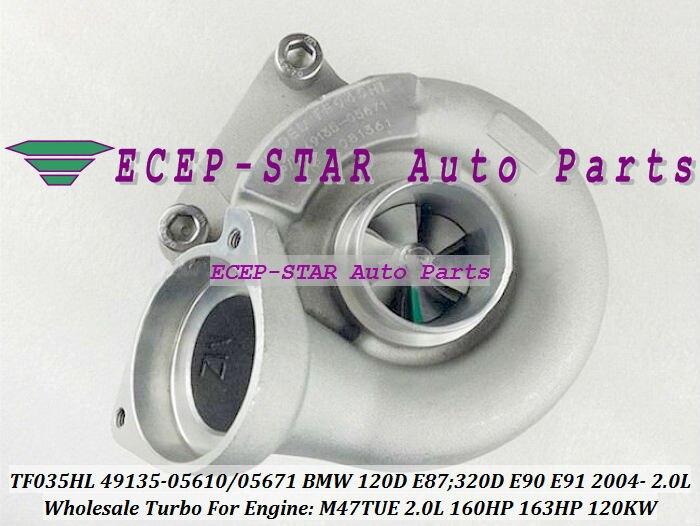 Turbo TF035HL 49135-05610 49135-05620 49135   Pour BMW 120D E87 05671-07 320D E90 E91 05-07 M47TUE 2,0l 160HP 120kw