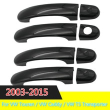 3 Color For VW Touran / VW Caddy / VW T5 Transporter 2003-2015 CHROME EXTERIOR SIDE DOOR HANDLE COVERS TRIM SET MOLDING CAPS