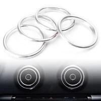4x q2l interior silver air vent outlet ring cover trim for audi a3 s3 8v 2012 2019
