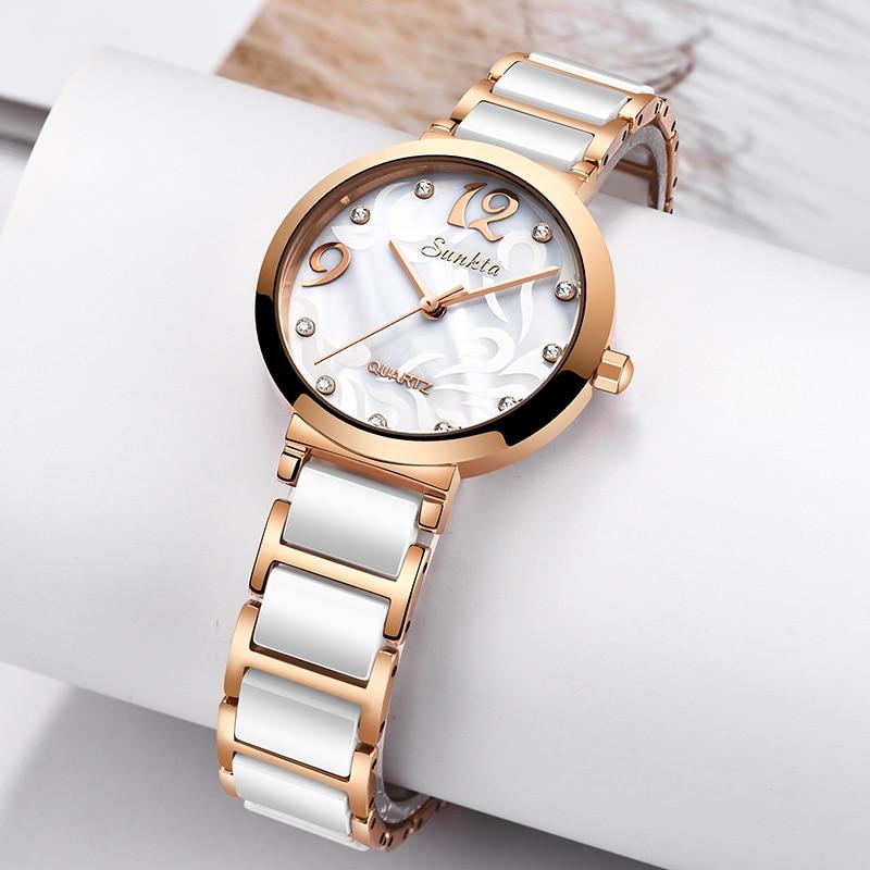 2021 Ceramics Women Watches Gold Stainless Steel Waterproof Quartz Watch Female Clock Gift Ladies Wristwatches Relogio Feminino enlarge