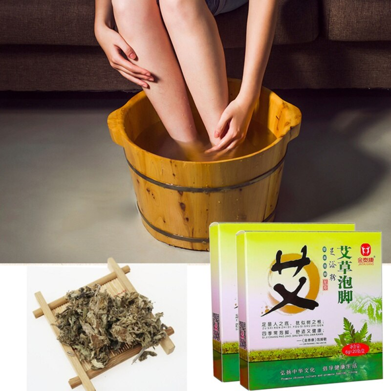 20 pcs/lot Wormwood Leaves Feet Washing Powder Foot Powder Soothing Foot Skin Care