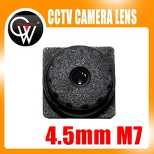 5PCS 5MP f2.0 4.5mm M7 67Degrees Viewing Built-in IR Filter Mini CCTV Lens for ALL HD Mini CCTV Cameras