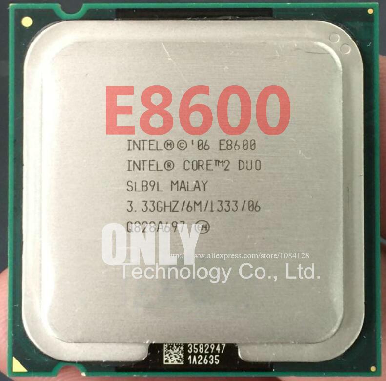 Envío gratis para Intel Core 2 Duo E8600 CPU (procesador de 3,33 Ghz/ 6M /1333GHz) 775