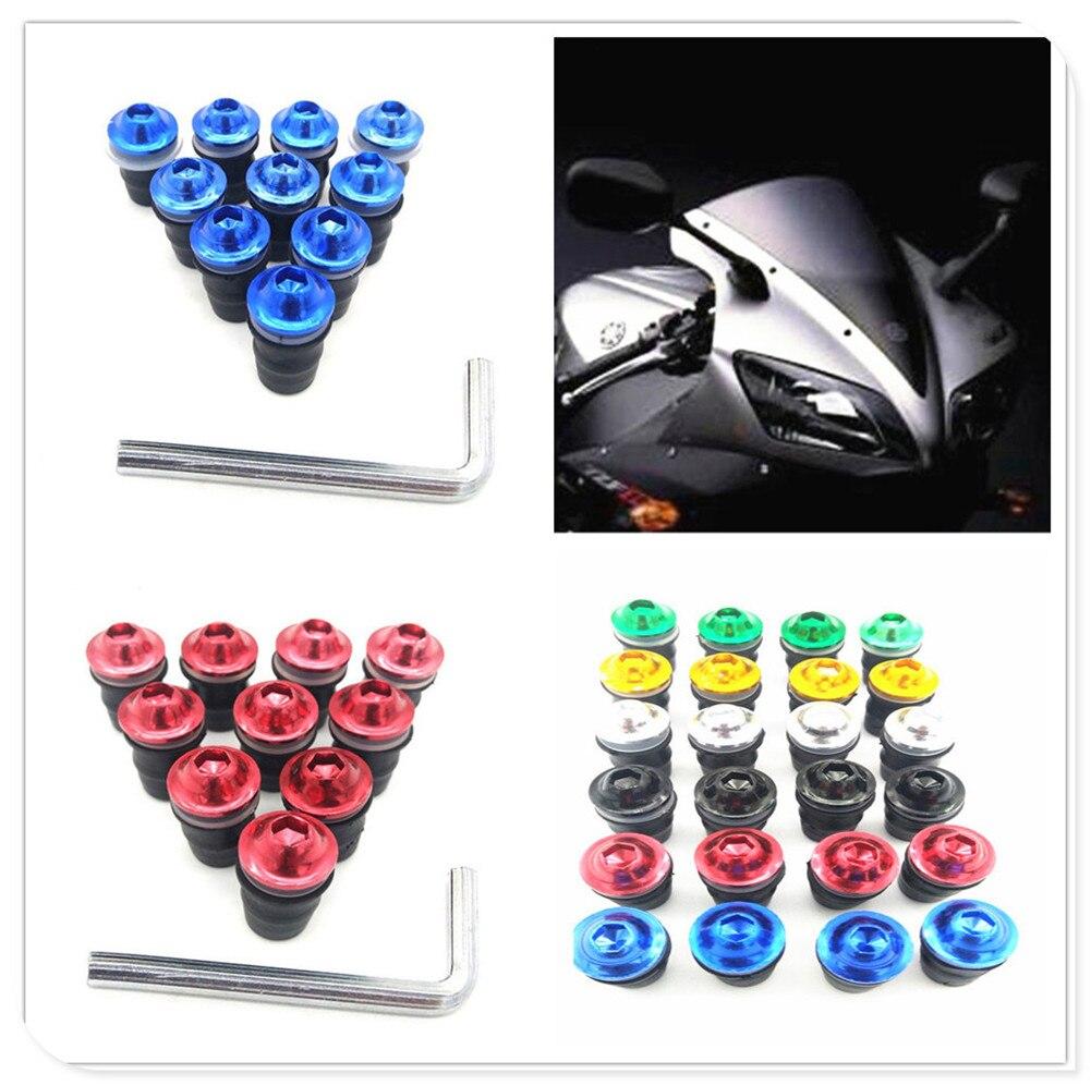 Kit de tornillos de motocicleta de 5mm, tornillos de parabrisas para HONDA CB190R VT1100 GROM MSX125 Honda XADV 750 X11