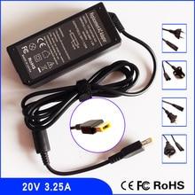 20V 3.25A Chargeur Adaptateur secteur Pour Ordinateur Portable pour Lenovo IdeaPad Y40 S1 S3 S5 G51 300 500 500s U530 V110 V310 X250 Z510 U430 S510p Z410
