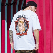 OSCN7 Graphics Print Heren T-shirts 2019 Grappige Korte Mouw T-shirts Zomer Hip Hop Casual Mode Vrouwen Top Tee Streetwear 9905