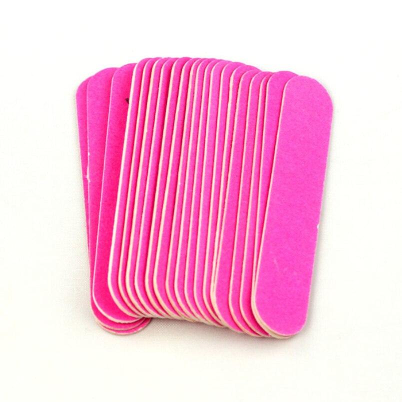 20 piezas 180/240 limas de uñas profesionales pulidoras de uñas esbeltas de media luna herramientas de uñas desechables lima de uñas de alta calidad 40