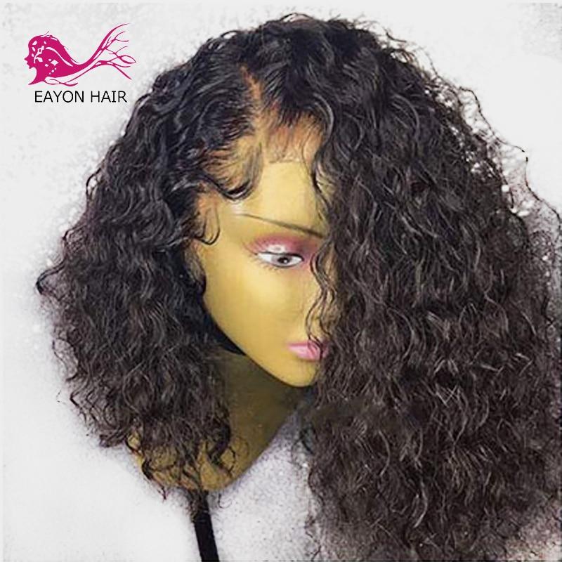 Eayon Hair 360 peluca Frontal de encaje pelucas de cabello humano Remy Peluca de onda de agua con Frontal sin pegamento con pelo de bebé 360-frontal brasileño