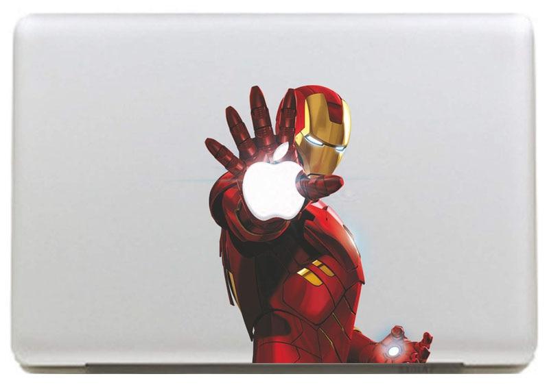 Светящийся лазерный Железный человек, Виниловая наклейка для DIY Macbook Pro / Air 11 13 15 дюймов, чехол для ноутбука, наклейка