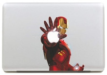 Pegatina de vinilo de Iron Man con láser emisor para DIY Macbook Pro/Air 11 13 15 pulgadas funda de portátil
