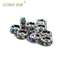 Оптовая продажа, 100 шт., 6 мм, медные круглые шарики высокого качества, бисер с серебряным покрытием, бисер для самостоятельного изготовления ...