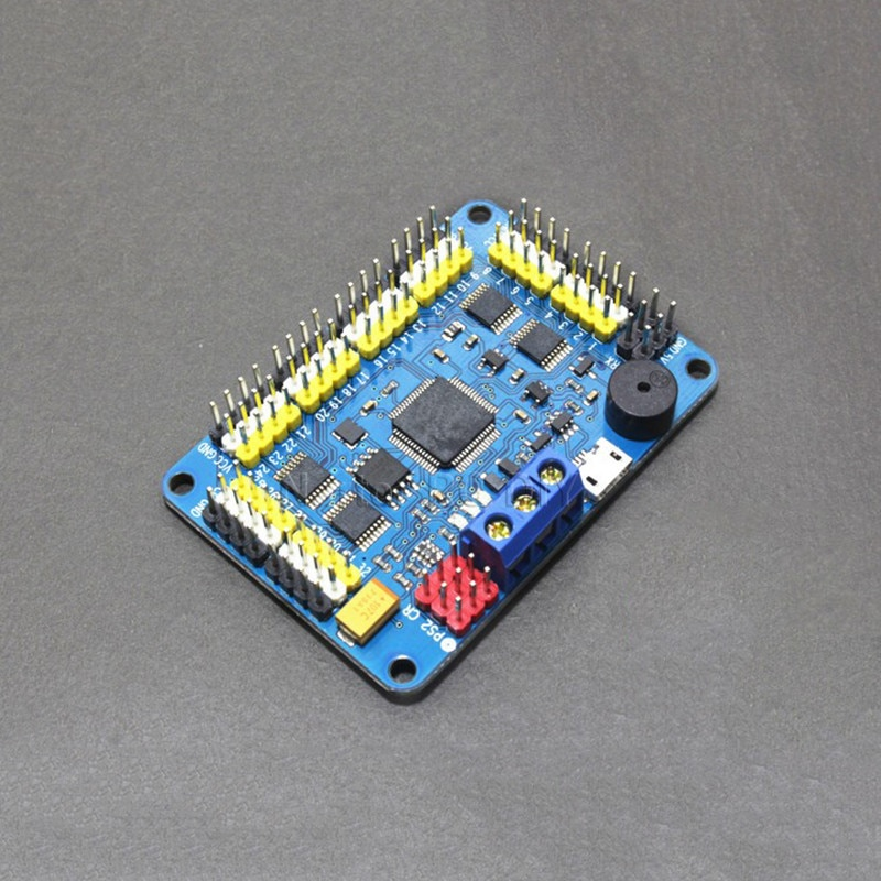 Nartor 32 Channel Robot Servo Control Board Servo Motor Controller PS2 Wireless Control USB/UART Connection Mode enlarge