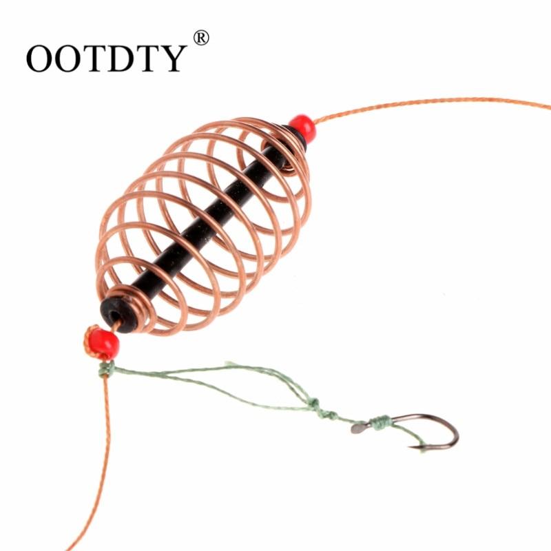 OOTDTY, 1 unidad, 15g, 20g, 30g, jaula para cebo de pesca, plomo, giratorio con línea de ganchos para carpa alimentador pesca, aparejos, accesorios
