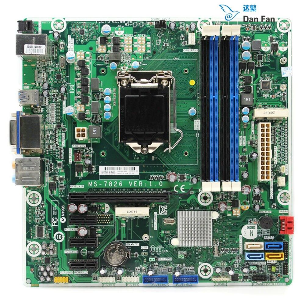 698749-001 pour HP ENVY 700 700-019 carte mère de bureau 698749-002 717068-501 MS-7826 LGA1150 carte mère 100% testé entièrement