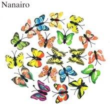 12 Pcs Multicolor Magnet 3D PVC Blume Schmetterling Wand Aufkleber Für Mädchen Kinder Baby Zimmer Küche Home Dekoration Klebstoff zu wand