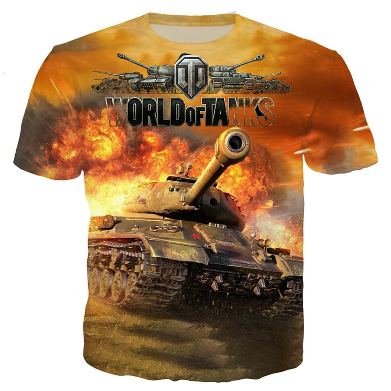 YX GIRL 2019 Fashion Mens t shirt Popular game World Of Tanks Print tshirts summer streetwear casual t-shirt Drop shipping
