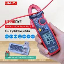 Digitale Clamp Meter UNI-T UT210E UT210D; True RMS Multimeter; AC DC spannung strom Kapazität tester + USB spannung strom-monitor