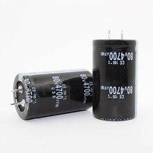 12 PCS-2 PCS 80v4700uf Condensatore Elettrolitico Radiale 4700 uf 80 V 30x50mm