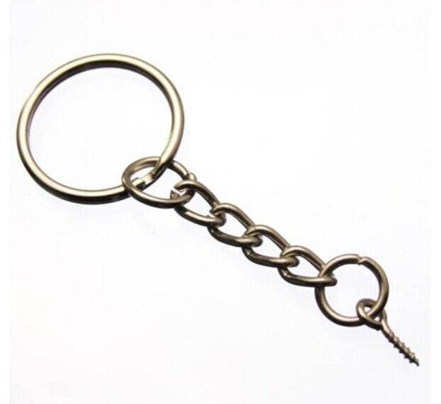 ¡Envío gratis! ¡venta al por mayor! 50 unidades de llaveros de moda, anillos divididos con tornillo de 25mm, joyería DIY C97