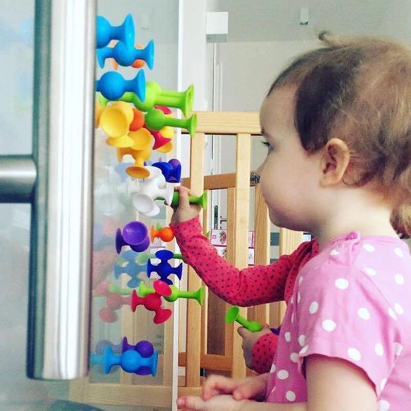 16 48 шт./компл. популярные маленькие присоски, собранная присоска, присоска, развивающие строительные блоки, игрушка для девочек и мальчиков, детские подарки, забавная игра|Блочные конструкторы| | АлиЭкспресс