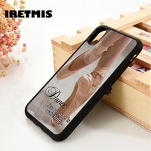 Iretmis 5 5S SE 6 6S étui En Silicone pour iPhone 7 8 plus X Xs 11 Pro Max XR Ballet Danseuse Ballerine Chaussures de Danse Citations