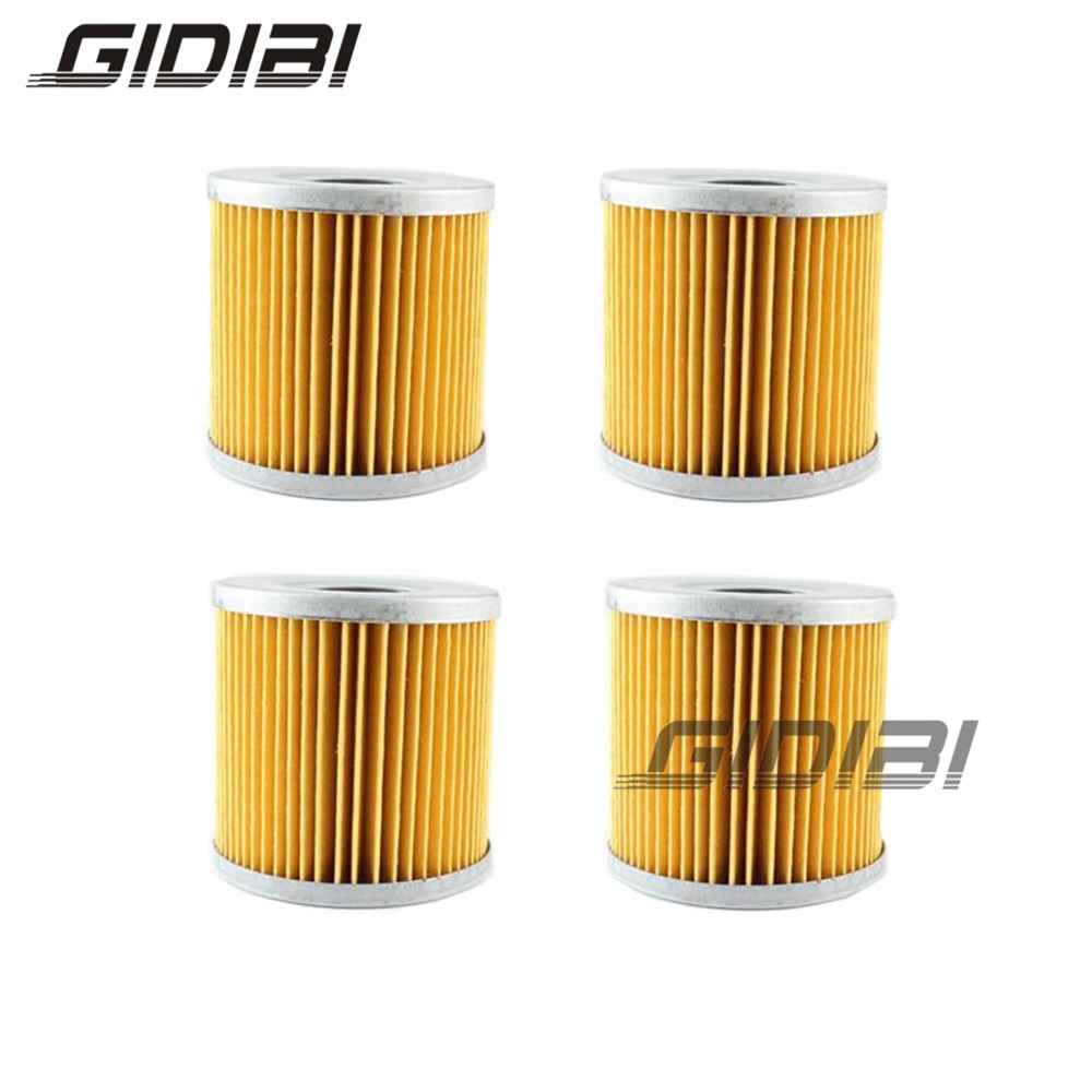 4 Uds filtro de aceite para SUZUKI GSX-R 1000 GSXR1000 GSX-R 250 GSX-R 400 VZ 800 merodeador XN 85 D TURBO