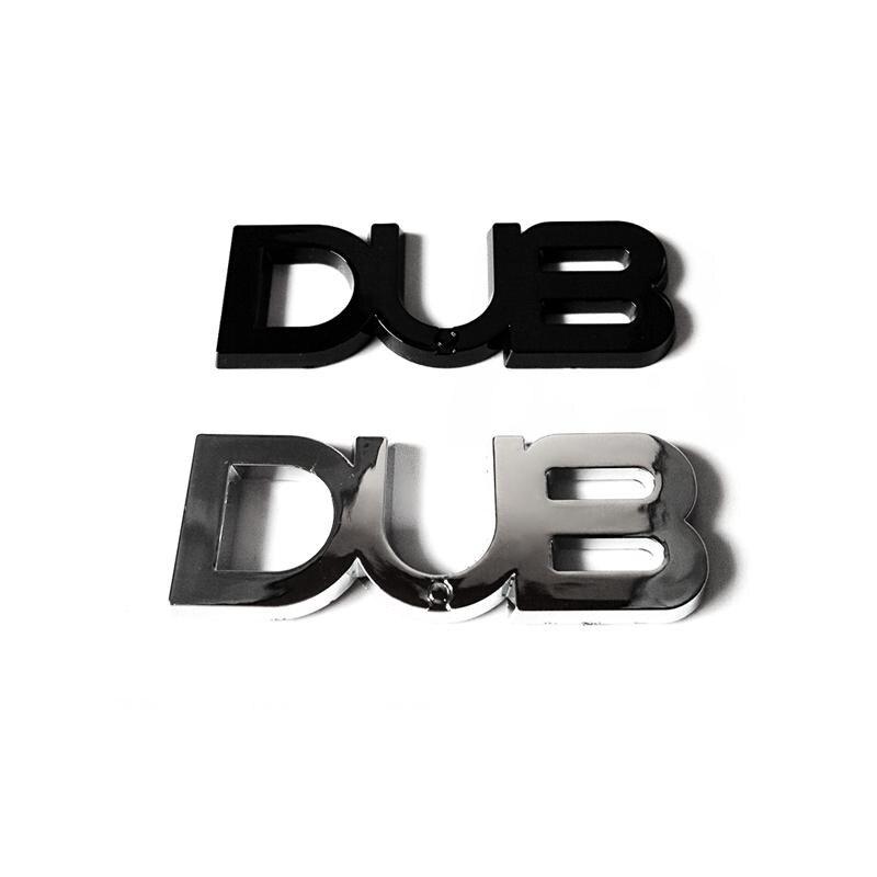 100 unids/lote ABS DUB emblema insignia tamaño pequeño