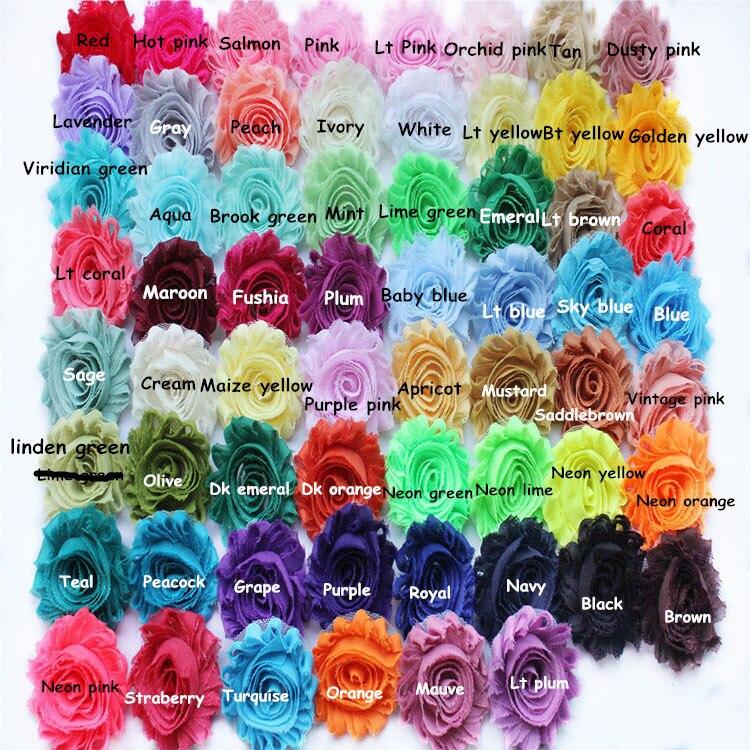 ربطة رأس شيفون بالزهور ، 450 ياردة/مجموعة ، 108 لونًا