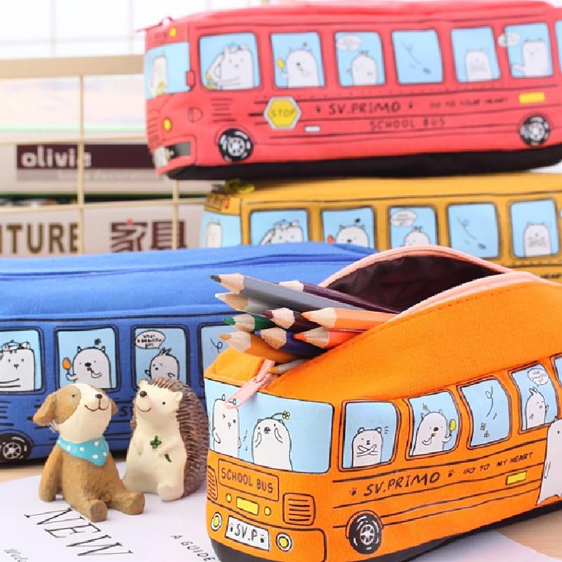 1 unidad de papelería creativa para estudiantes ANIMAL PEQUEÑO estuche de lápiz para autobús estuche de tela para lápices bolsa de papelería para niños y niñas