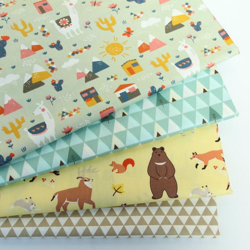Tela de algodón bebé tela patchwork algodón DIY de coser acolchado grasa Material para niño y bebé